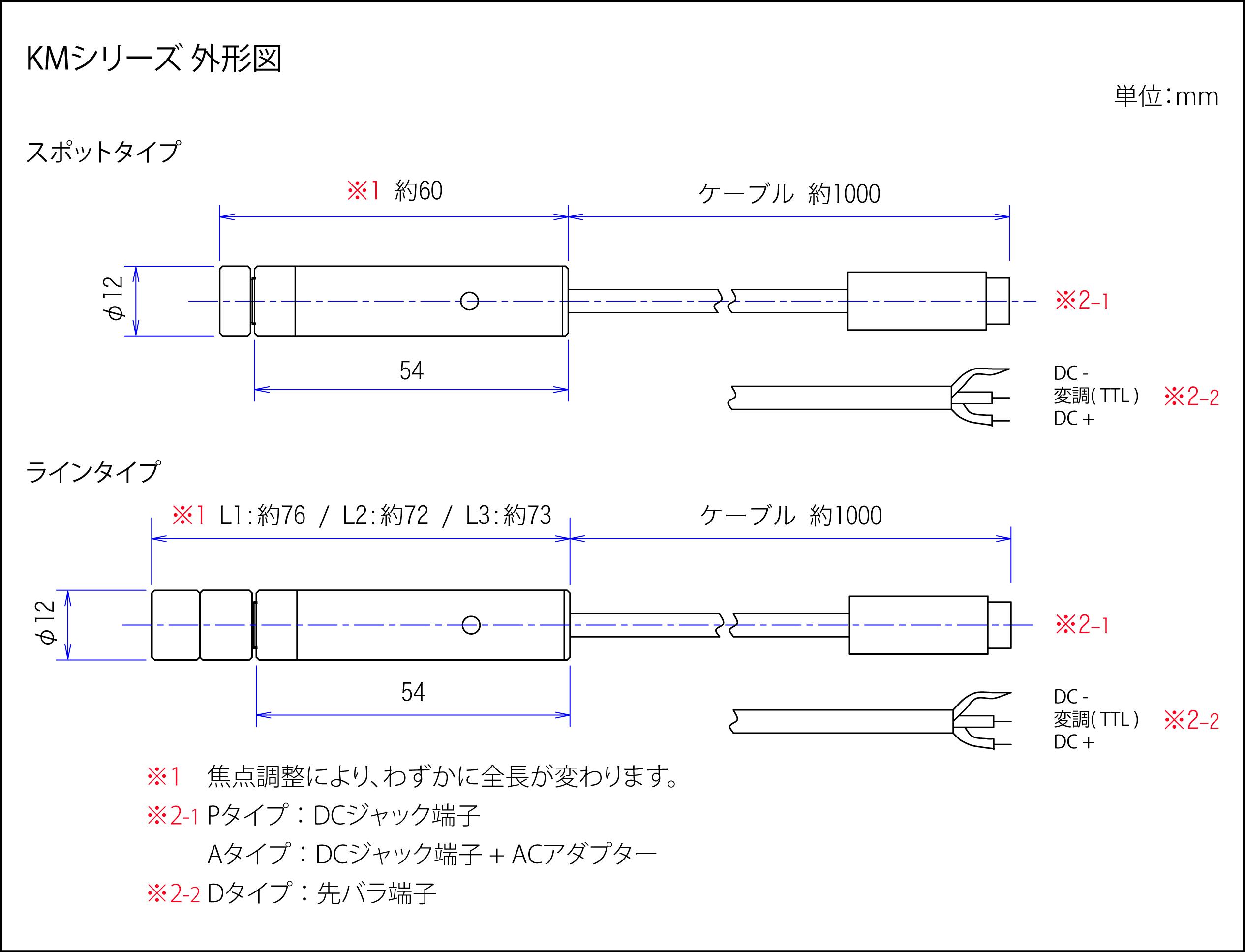 KMシリーズ 外形図